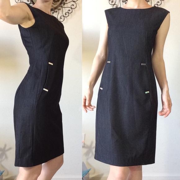 Calvin Klein Dresses & Skirts - Calvin Klein Deep Grey Sleek Professional Dress
